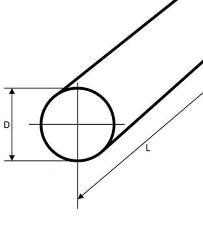 Pręt okrągły stalowy fi 45mm 1500mm