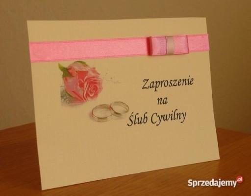 Zaproszenie Na ślub Cywilny Zaproszenia Nowość 7499325047 Allegropl