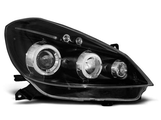 Lampy Przod Renault Clio 3 05 09 Led Black Ringi Pajeczno Allegro Pl