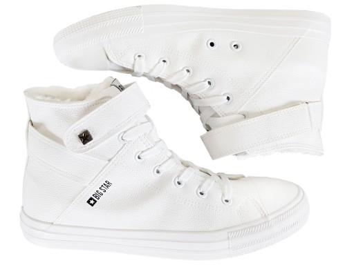 94ac4818314a1 BIG STAR trampki damskie białe zimowe V274541F 37 6952095282 ...