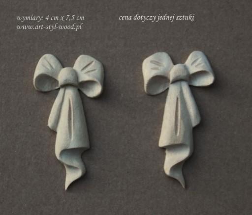 Ornament drewniany, dekor, aplikacja meblowa