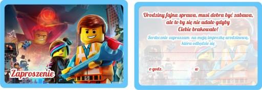 Zaproszenia Urodzinowe Dla Dzieci Lego 7513859553 Allegropl