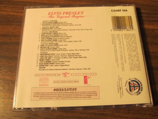 THE LEGEND ELVIS PRESLEY BEGINS (CD)04