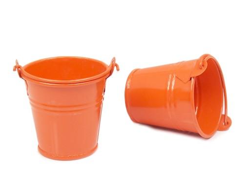 55 Cm Mini Doniczka Wiaderko Pomarańczowe Ocynk