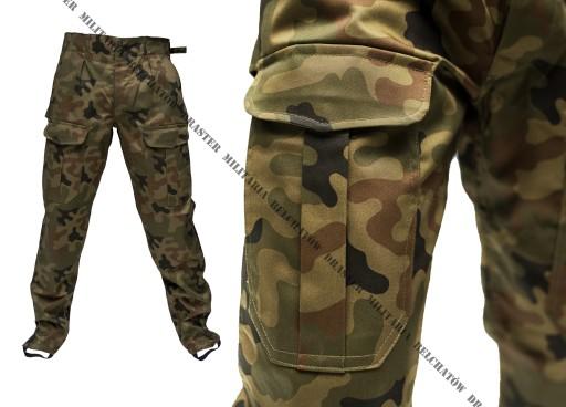 Bojówki MORO Spodnie wojskowe z gumką NOWE  S/L