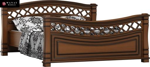 Ekskluzywne łóżko Z Drewna 200cm X 200cm Fala