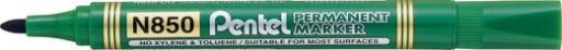 Marker permanentny zielony okrągły Pentel N850-D