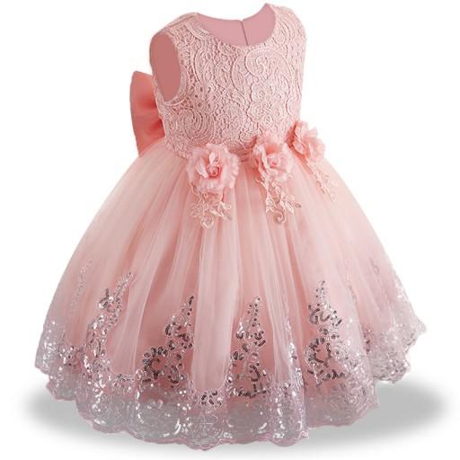 6c9f1697 PIĘKNA Wizytowa Sukienka 122-128 Wesele Urodziny