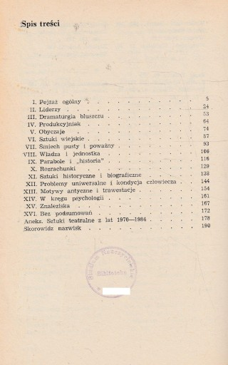 ZASOBY I SPOSOBY Andrzej Żurowski DRAMATURGIA