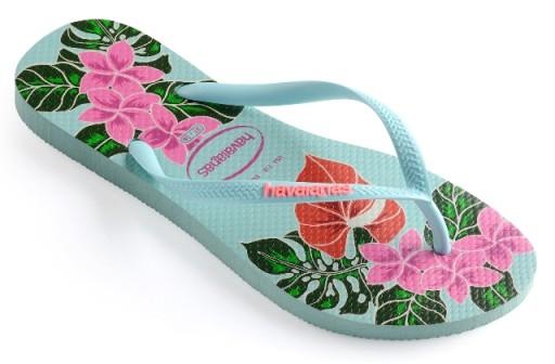 Havaianas Slim Floral 39/40 kolorowe japonki %%%%%