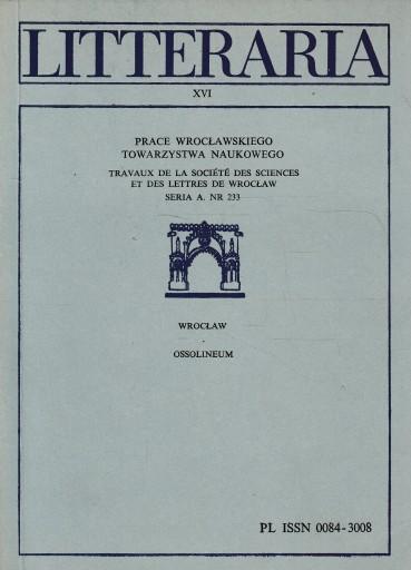 LITTERARIA XVI - Wrocławskie Towarzystwo Naukowe