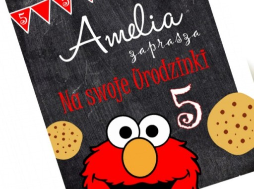 Ciasteczkowy Potwór Zaproszenia Roczek Urodziny 7706229459