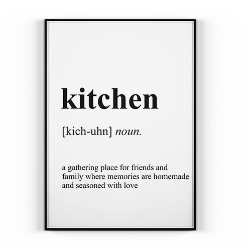Plakat Kitchen 50x70cm Styl Skandynawski
