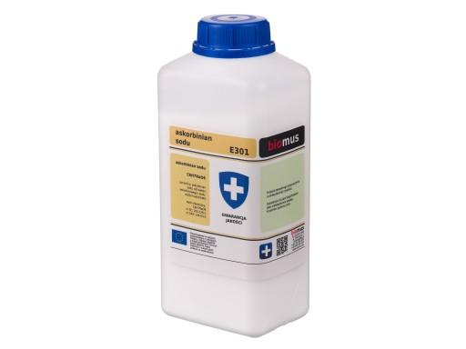 ASKORBINIAN SODU E301 Gat czysty 1kg biomus 1000g