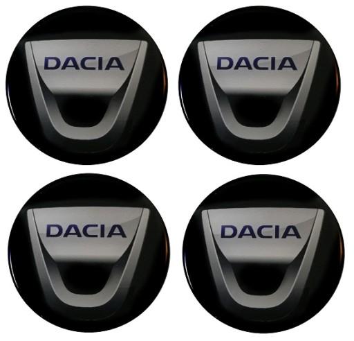 DACIA 70mm 7cm emblematy na kołpaki dekielki 4szt