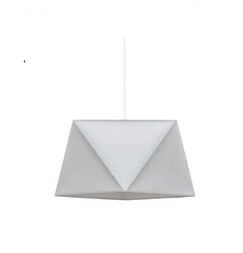 Lampa wisząca sufitowa abażur DIAMENT biała DUŻA