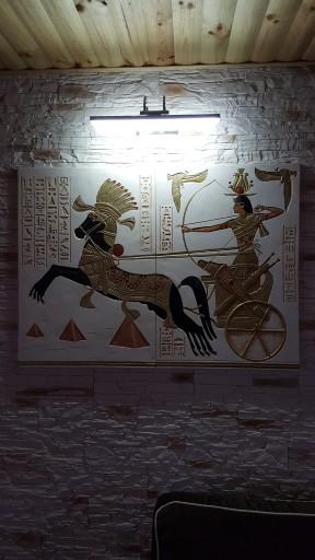 KAMIEŃ DEKORACYJNY RELIEF PŁASKORZEŹBY EGIPT OBRAZ