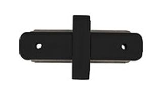 Łącznik do mocowania szyn prosty czarny