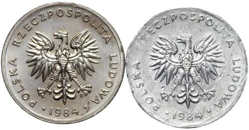 + Polska NIENOTOWANA PRÓBA - 20 Złotych 1984 - AL