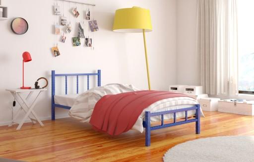 łóżko Metalowe Młodzieżowe 80x180 Wzór 17 Stelaż