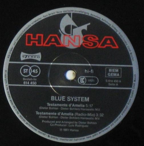 BLUE SYSTEM  Testamente D'Amelia  maxi  italo