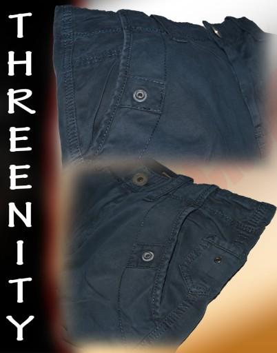 THREENITY No:C-003 BLUE-spodnie,bojówki,HIT! r 30*
