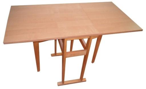 Stół Stolik Kuchenny Rozkładany Prostokątny Olcha