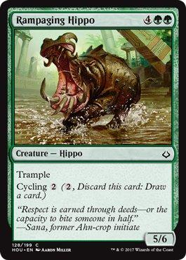 MTG 4x Rampaging Hippo