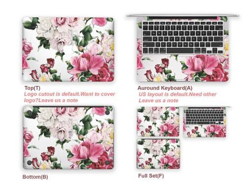 MacBook Pro 13 NAKLEJKA POKROWIEC NEW 3 szt. Biała