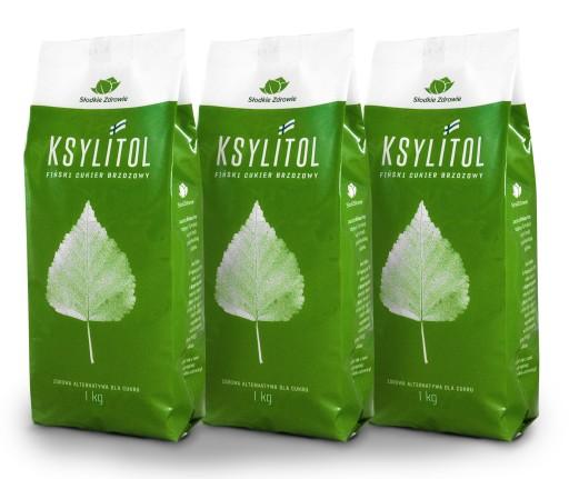 Cukier Brzozowy 100% FIŃSKI ksylitol ORYGINAŁ 3kg