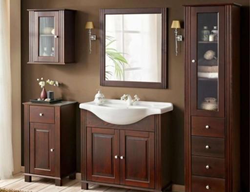 szafka łazienkowa Retro i umywalka ceramiczna 65