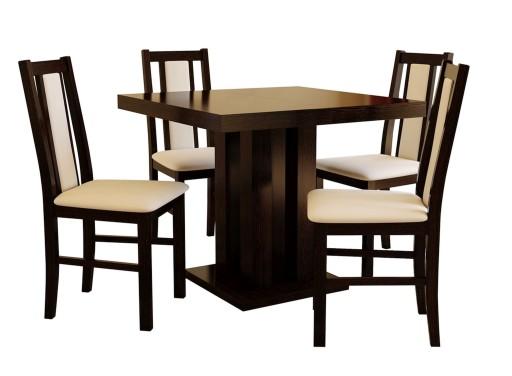 Stół Rozkładany 22590x90 Z 4 Krzesłami 6895657521 Allegropl