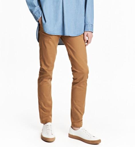 H&M CHINO CHINOSY SLIM LEG duże W36 38 LONG
