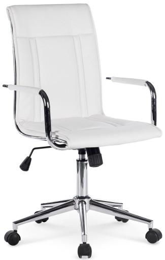 Krzesło Biurowe Obrotowe Porto 2 Halmar Białe 24h