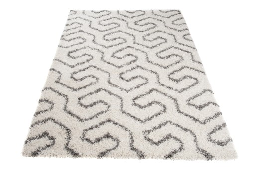Dywany Shaggy 200x250 Biały Gruby 5cm Włos 63aw