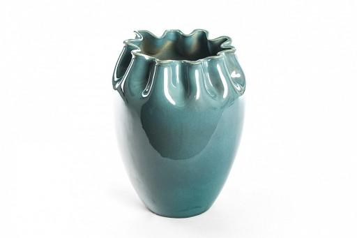 Duzy Piekny Ceramiczny Wazon Turkus Niebieski H27 7870839952 Allegro Pl