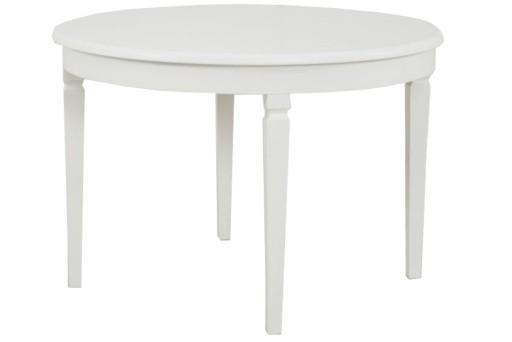 Biały Stół Rozkładany 110210 Drewniany Okrągły