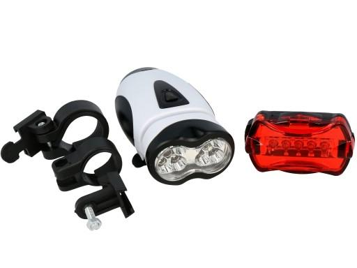 Oświetlenie Rowerowe Lampki Roweru Kpl 105 Led