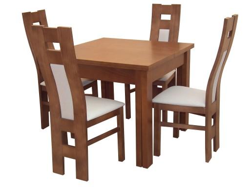 Rozkładany Stół 90x90 Do 330 4 Wygodne Krzesła 6914636775 Allegropl
