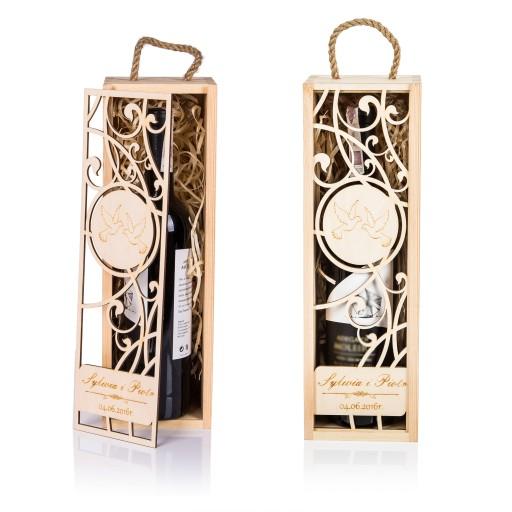 Pudełko Skrzynka Na Wino Grawer Prezent ślub 7165385844 Allegropl