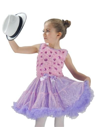 sukienka taniec sesja  SK933 PURPLE ROSE   6-7lat