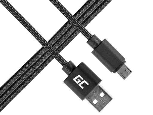 Oryginalny kabel microUSB Green Cell Nylon 1m 6944279625