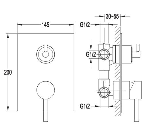 Omnires Y Bateria Wannowa Termostatyczna Y1237k