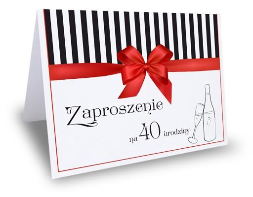Zaproszenie Zaproszenia Na Urodziny 25 30 40 Itp 6700025833