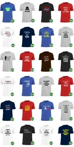 każdy może zostać ojcem tylko ktoś wyjątkowy tatą 7689707518 Odzież Męska T-shirty RG BFEFRG-4
