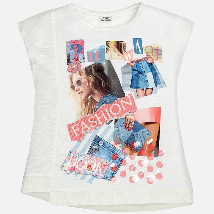 Asymetryczna koszulka Mayoral l17 6069-045 128 6881426990 Dziecięce Odzież DU OIMODU-7