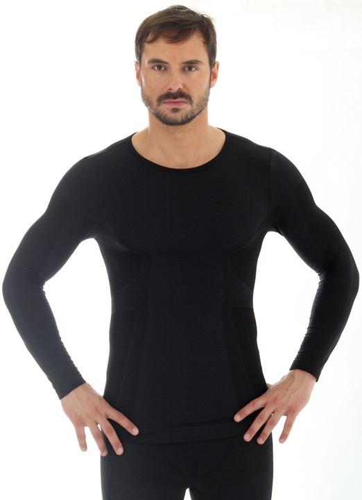 Koszulka męska długi rękaw BRUBECK wool merino M 5851674349 Odzież Męska Koszulki z długim rękawem AE XIEPAE-4