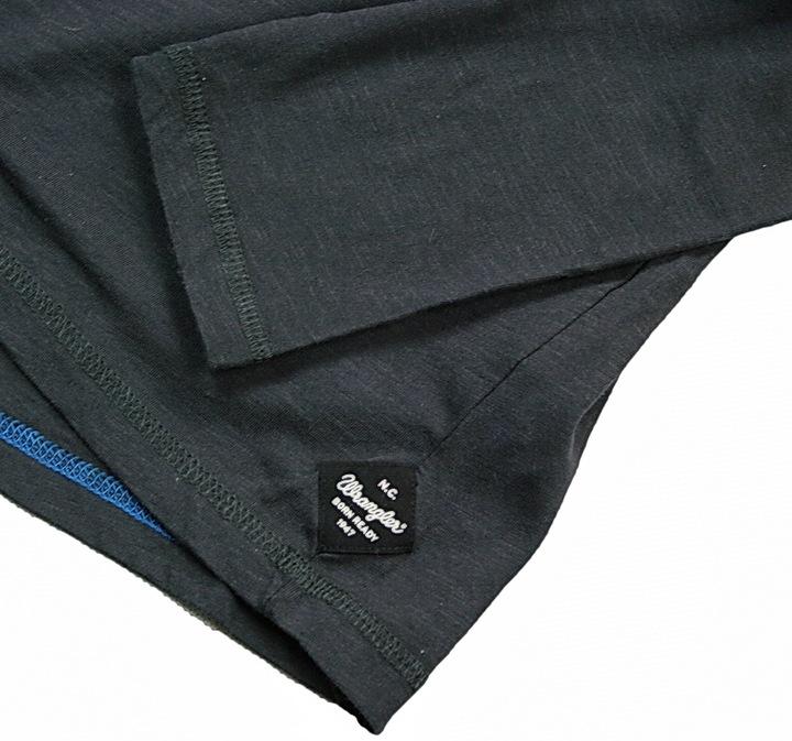 WRANGLER PEAK TEE KOSZULKA LONGSLEEVE BLUZA - S 7172067038 Odzież Męska Koszulki z długim rękawem FI KOECFI-5