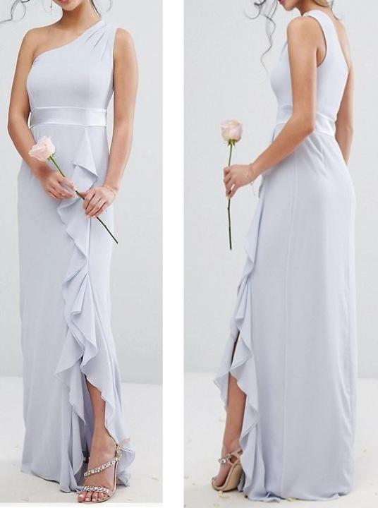A264 sukienka ZARA maxi DRUHNA elegancka WESELE 34 9271154561 Odzież Damska Sukienki wieczorowe NP IUDNNP-1